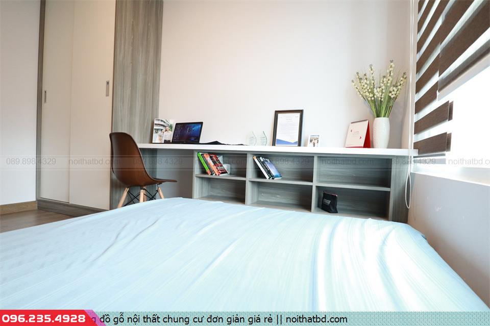 Đóng đồ gỗ nội thất chung cư đơn giản giá rẻ