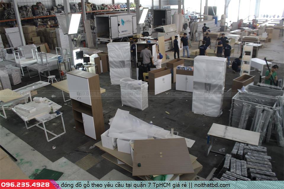 Xưởng đóng đồ gỗ theo yêu cầu tại quận 7 TpHCM giá rẻ