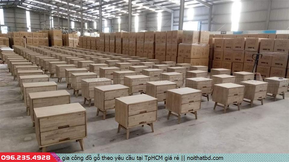 Xưởng gia công đồ gỗ theo yêu cầu tại TpHCM giá rẻ