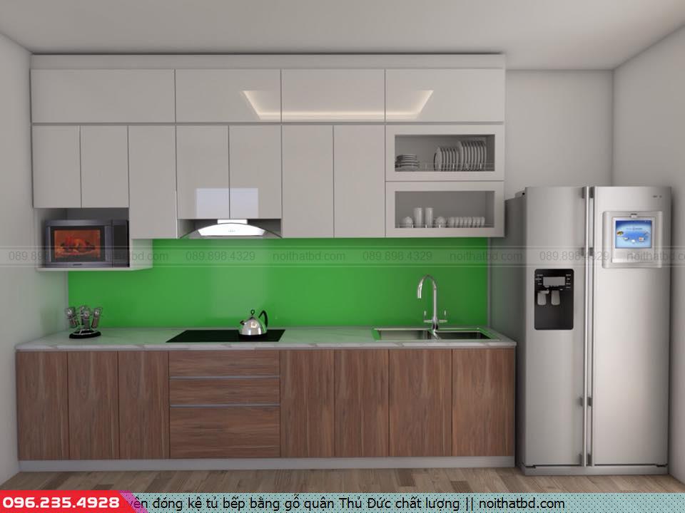Chuyên đóng kệ tủ bếp bằng gỗ quận Thủ Đức chất lượng