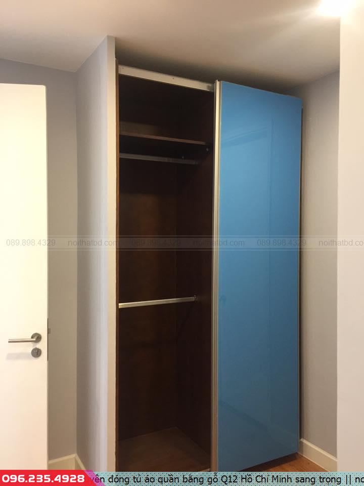 Chuyên đóng tủ áo quần bằng gỗ Q12 Hồ Chí Minh sang trọng