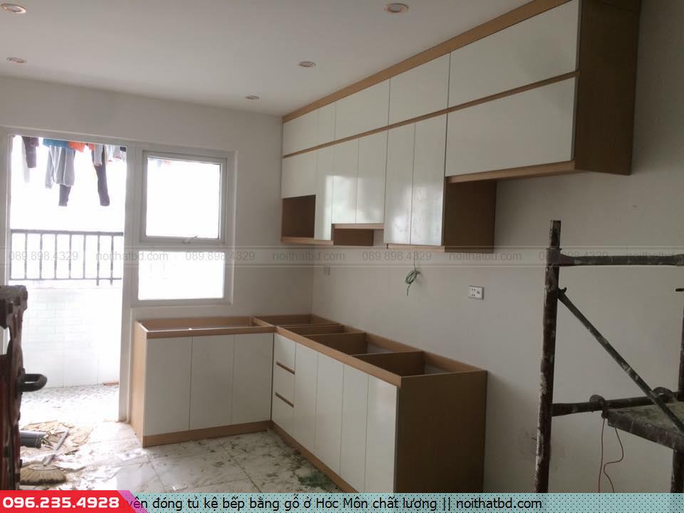 Chuyên đóng tủ kệ bếp bằng gỗ ở Hóc Môn chất lượng
