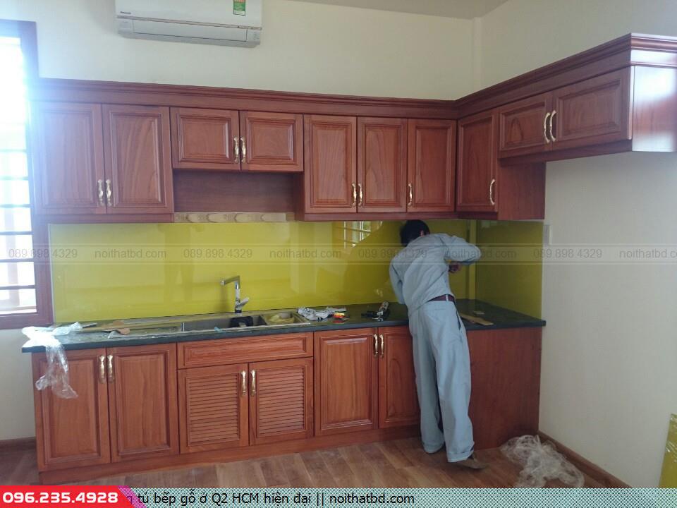 Đóng tủ bếp gỗ ở Q2 HCM hiện đại