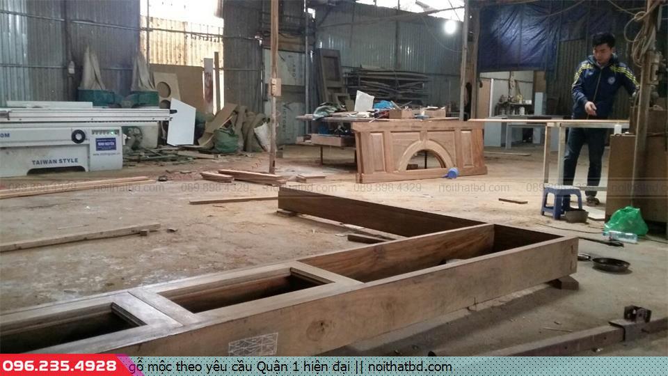 Làm gỗ mộc theo yêu cầu Quận 1 hiện đại
