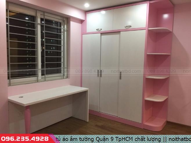 Mẫu  tủ áo âm tường Quận 9 TpHCM chất lượng
