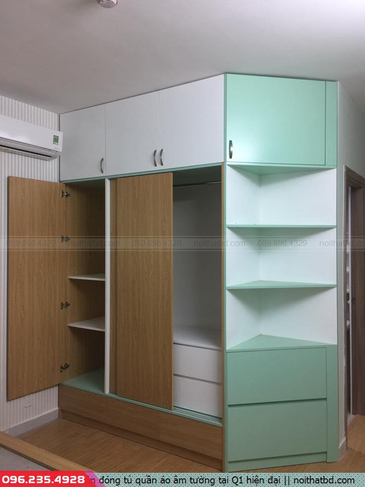 Nhận đóng tủ quần áo âm tường tại Q1 hiện đại
