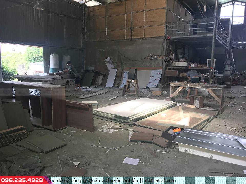 Thi công đồ gỗ công ty Quận 7 chuyên nghiệp