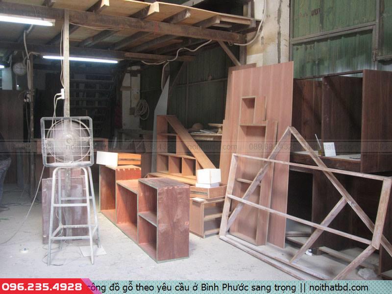 Thi công đồ gỗ theo yêu cầu ở Bình Phước sang trọng