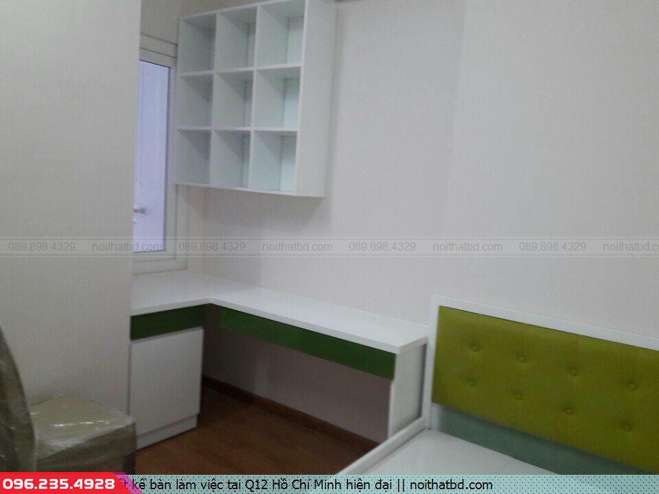 Thiết kế bàn làm việc tại Q12 Hồ Chí Minh hiện đại