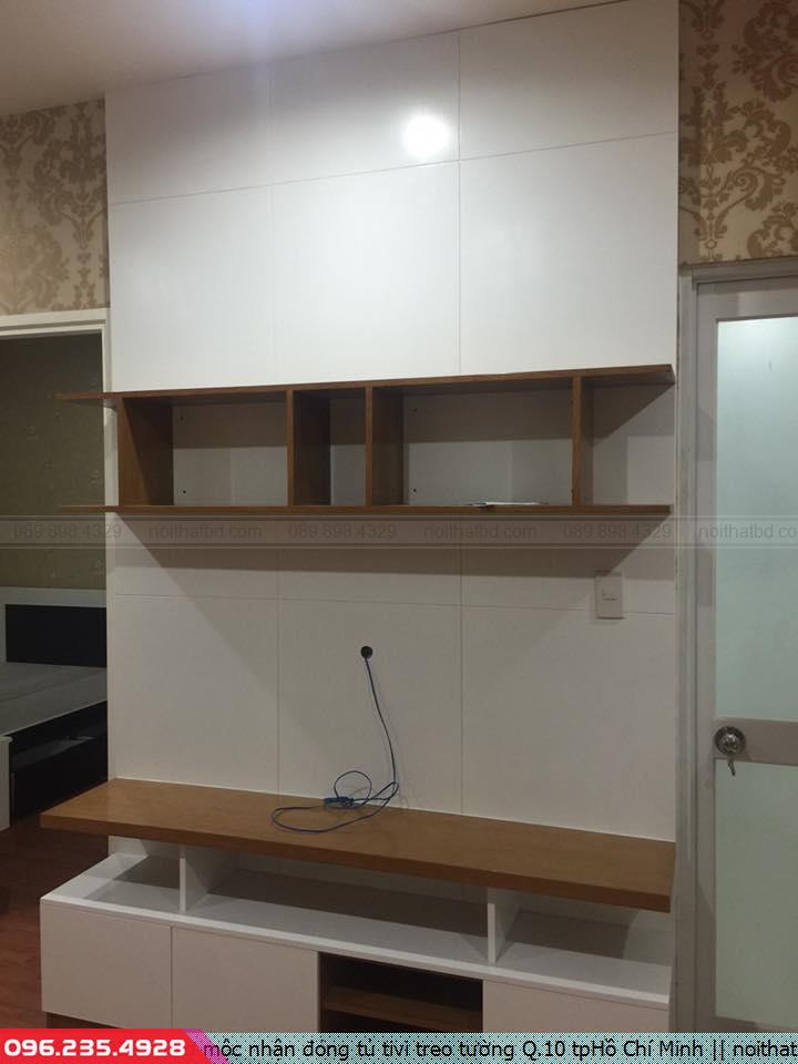 Thợ mộc nhận đóng tủ tivi treo tường Q.10 tpHồ Chí Minh