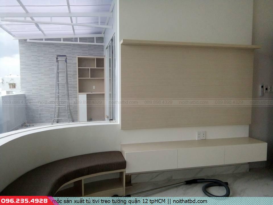 Thợ mộc sản xuất tủ tivi treo tường quận 12 tpHCM