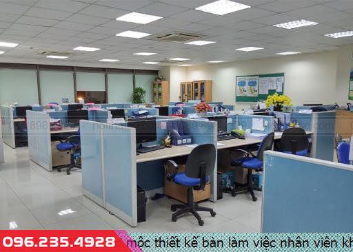 Thợ mộc thiết kế bàn làm việc nhân viên khu vực Biên Hòa