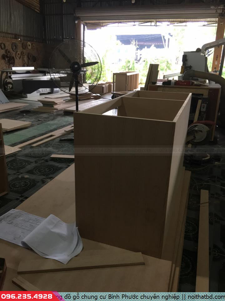 Xưởng đồ gỗ chung cư Bình Phước chuyên nghiệp