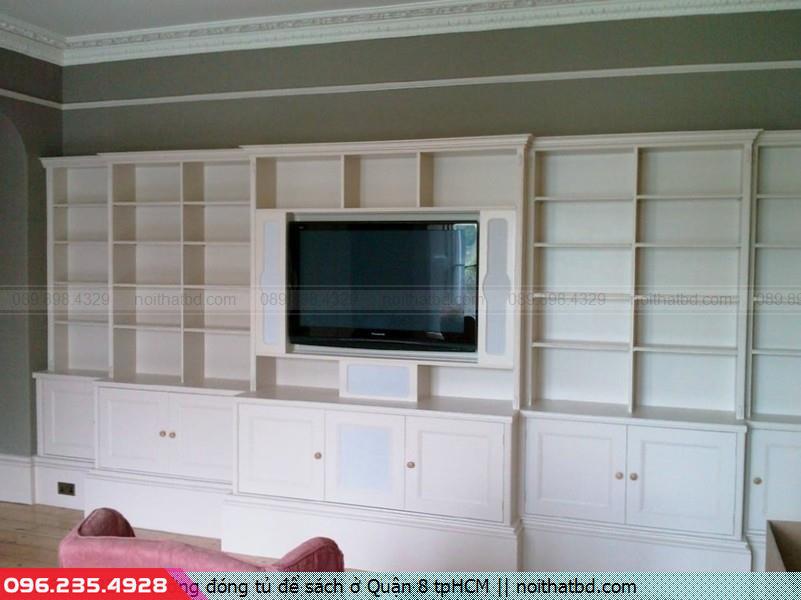 Xưởng đóng tủ để sách ở Quận 8 tpHCM