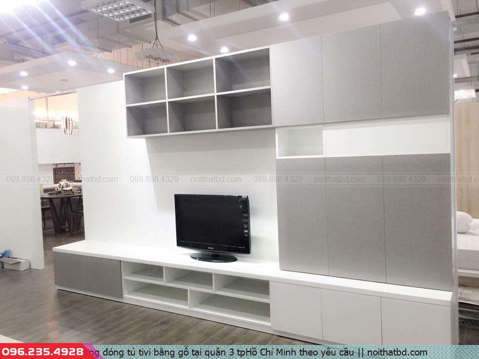 Xưởng đóng tủ tivi bằng gỗ tại quận 3 tpHồ Chí Minh theo yêu cầu