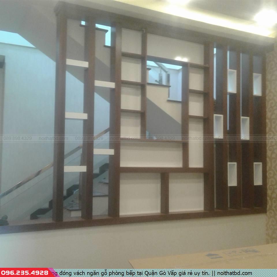 Xưởng đóng vách ngăn gỗ phòng bếp tại Quận Gò Vấp giá rẻ uy tín.