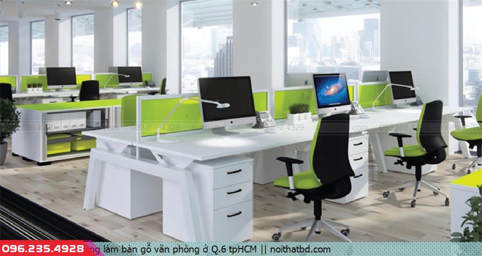 Xưởng làm bàn gỗ văn phòng ở Q.6 tpHCM