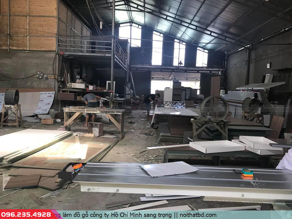 Xưởng làm đồ gỗ công ty Hồ Chí Minh sang trọng
