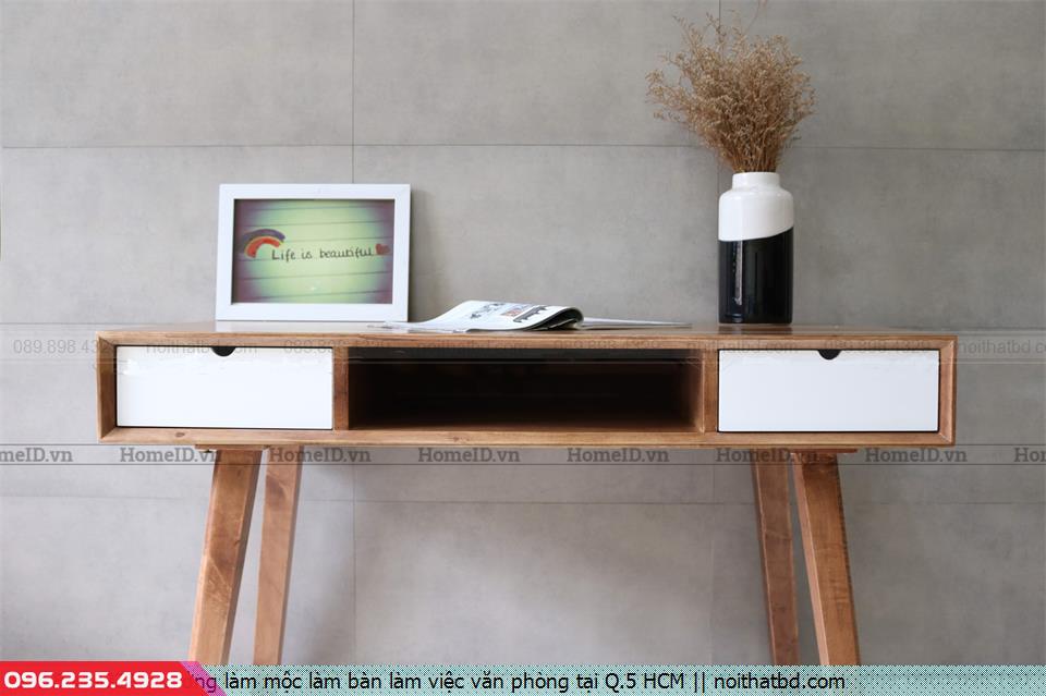 Xưởng làm mộc làm bàn làm việc văn phòng tại Q.5 HCM
