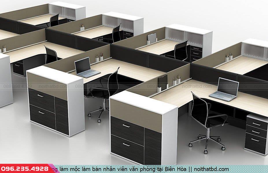 Xưởng làm mộc làm bàn nhân viên văn phòng tại Biên Hòa