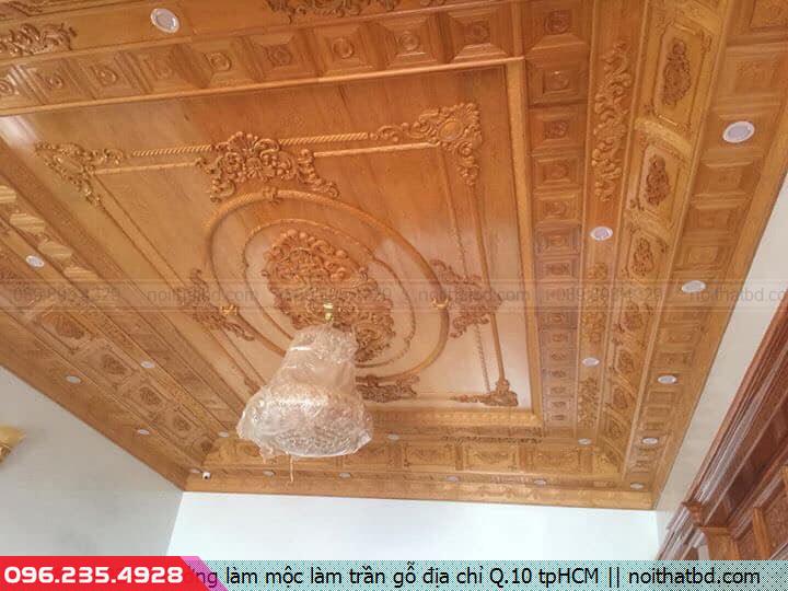 Xưởng làm mộc làm trần gỗ địa chỉ Q.10 tpHCM