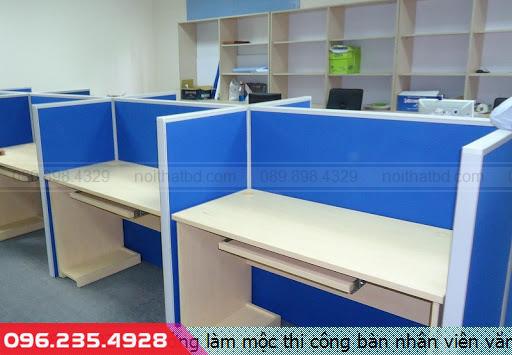 Xưởng làm mộc thi công bàn nhân viên văn phòng tại Thủ Dầu Một tỉnh Bình Dương