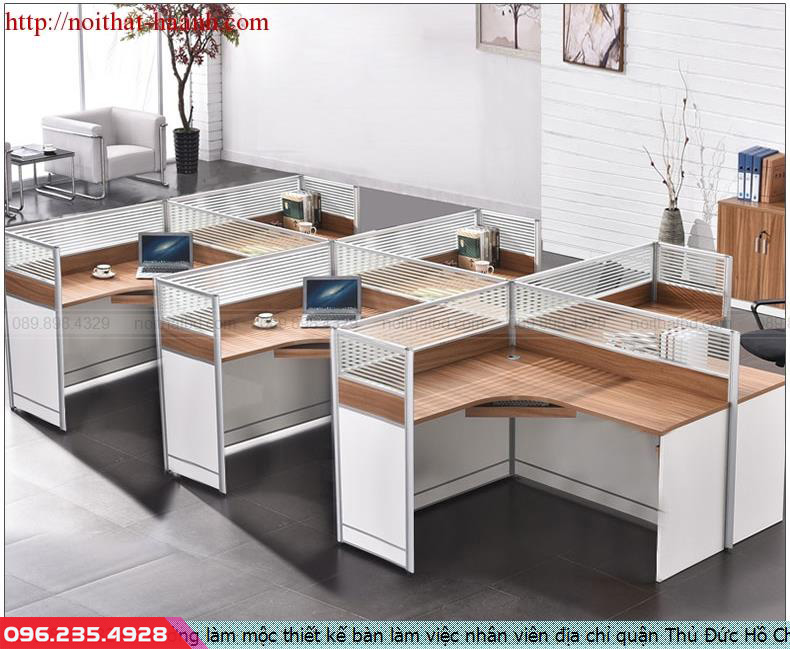 Xưởng làm mộc thiết kế bàn làm việc nhân viên địa chỉ quận Thủ Đức Hồ Chí Minh