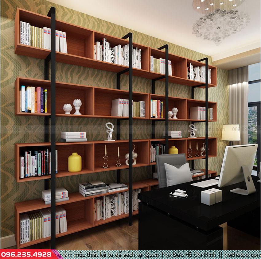 Xưởng làm mộc thiết kế tủ để sách tại Quận Thủ Đức Hồ Chí Minh