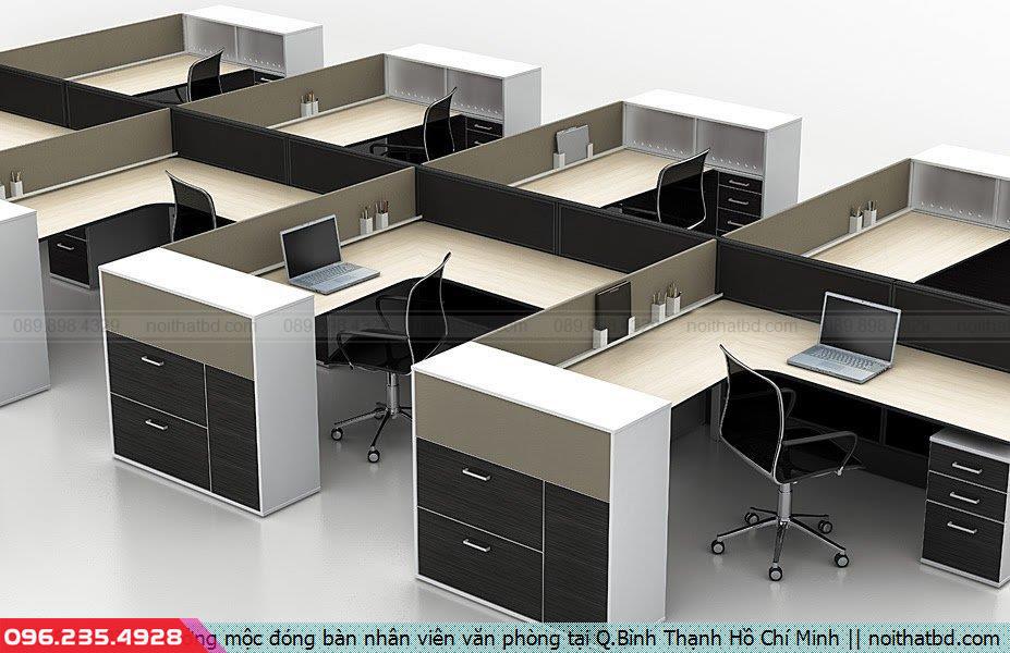 Xưởng mộc đóng bàn nhân viên văn phòng tại Q.Bình Thạnh Hồ Chí Minh