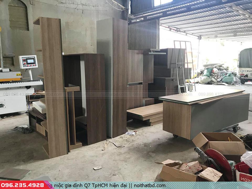Xưởng mộc gia đình Q7 TpHCM hiện đại