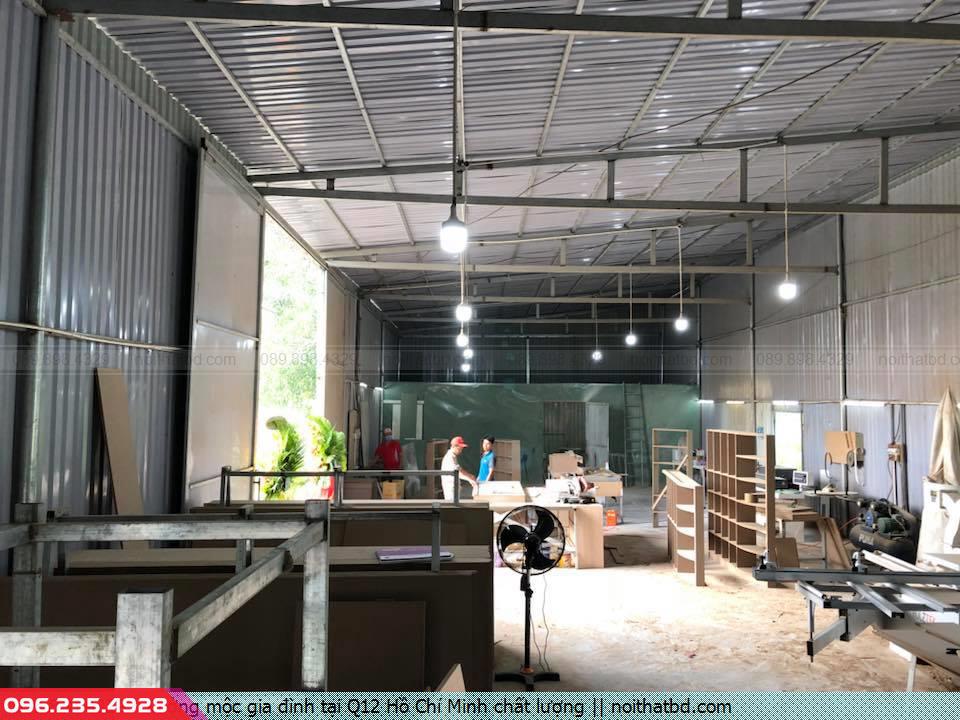 Xưởng mộc gia đình tại Q12 Hồ Chí Minh chất lượng