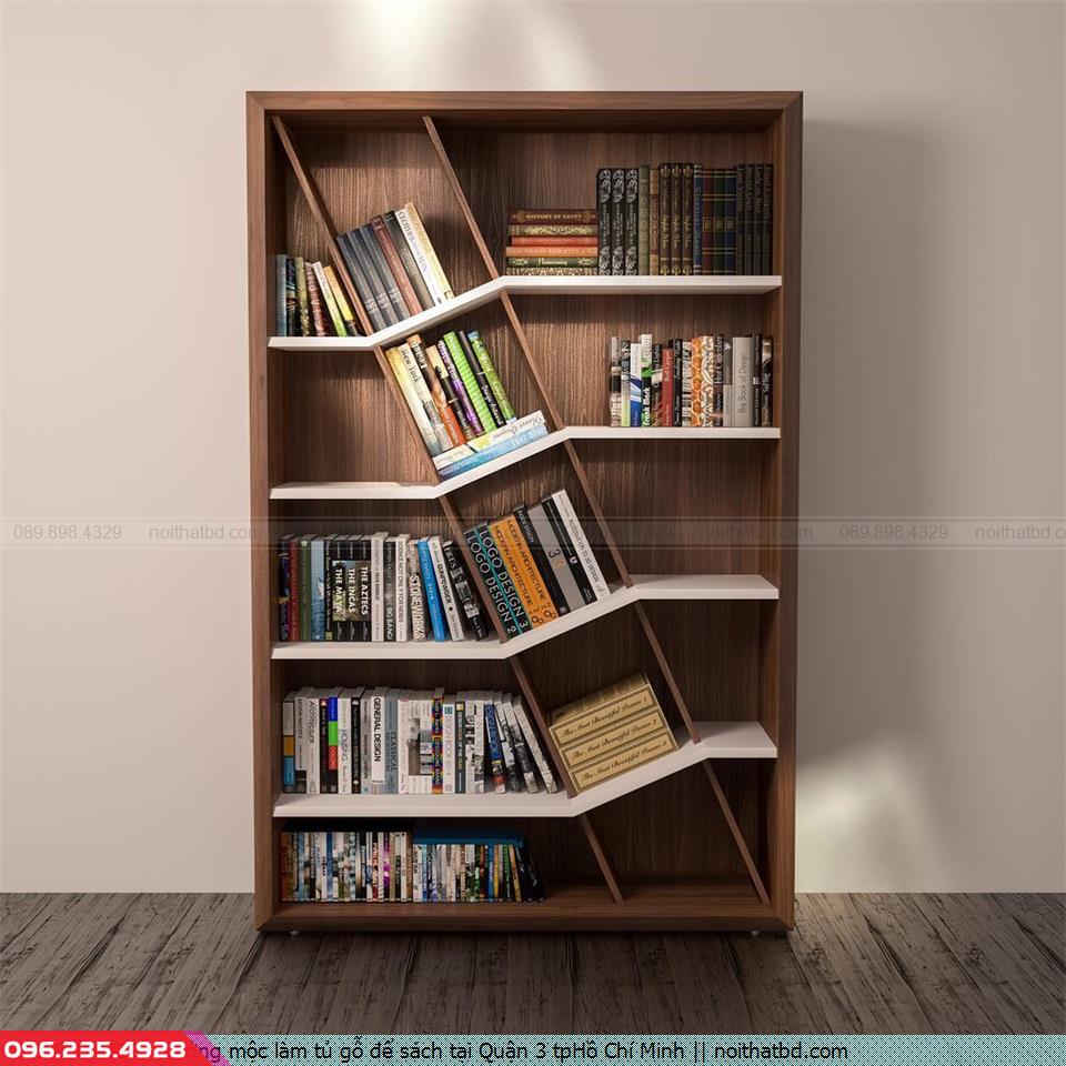 Xưởng mộc làm tủ gỗ để sách tại Quận 3 tpHồ Chí Minh