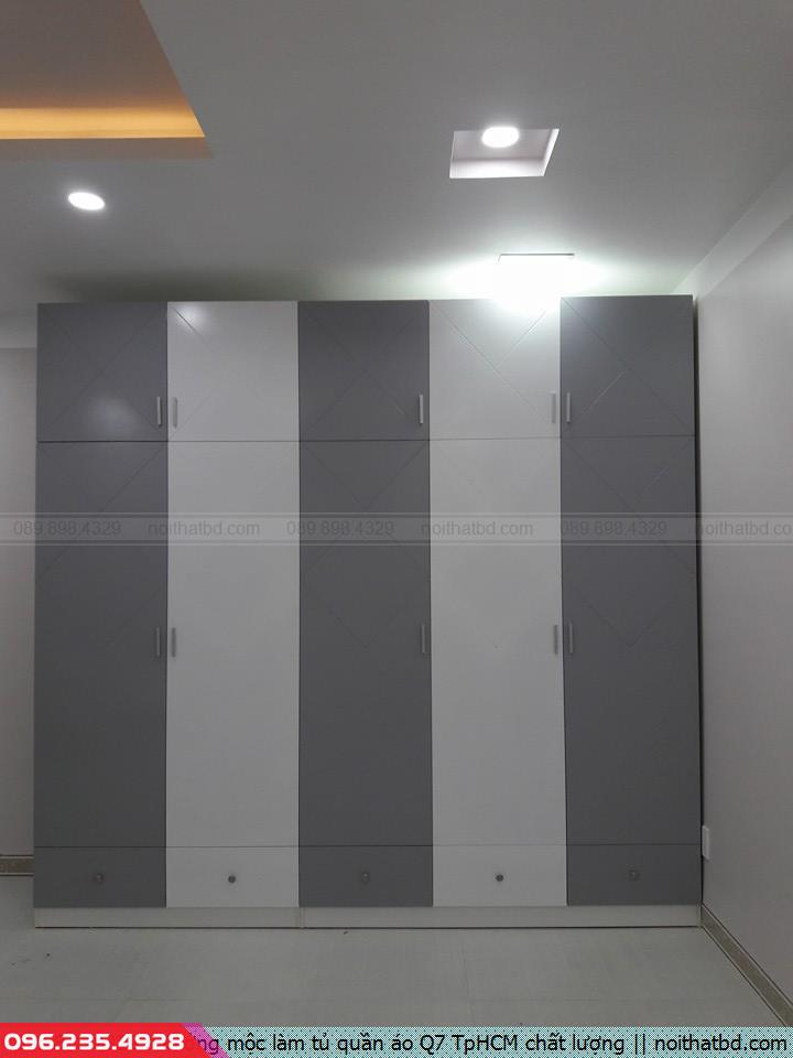 Xưởng mộc làm tủ quần áo Q7 TpHCM chất lượng