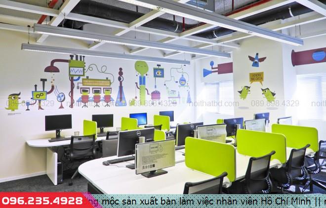 Xưởng mộc sản xuất bàn làm việc nhân viên Hồ Chí Minh