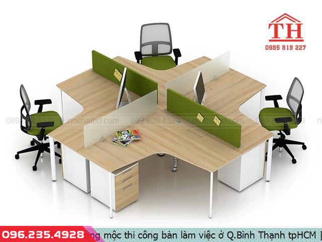 Xưởng mộc thi công bàn làm việc ở Q.Bình Thạnh tpHCM