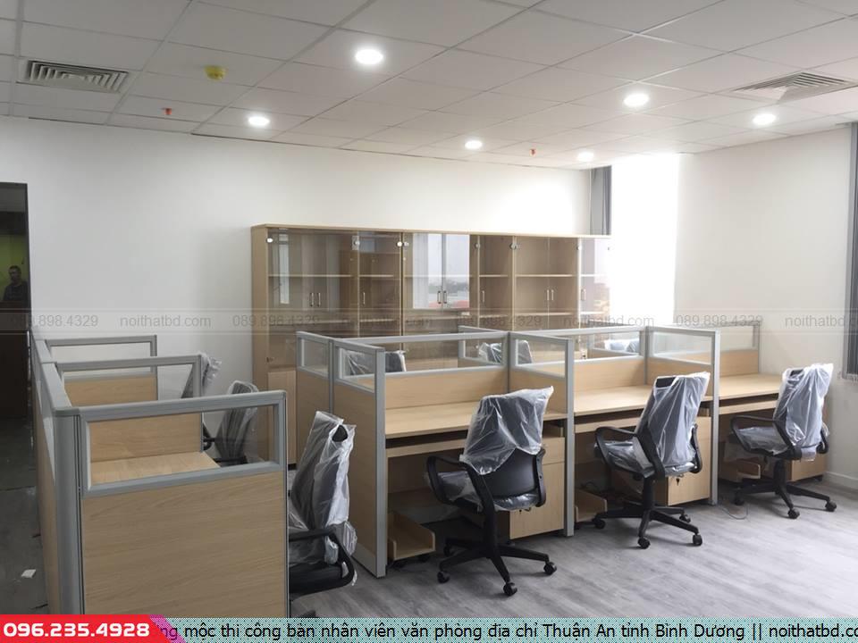 Xưởng mộc thi công bàn nhân viên văn phòng địa chỉ Thuận An tỉnh Bình Dương