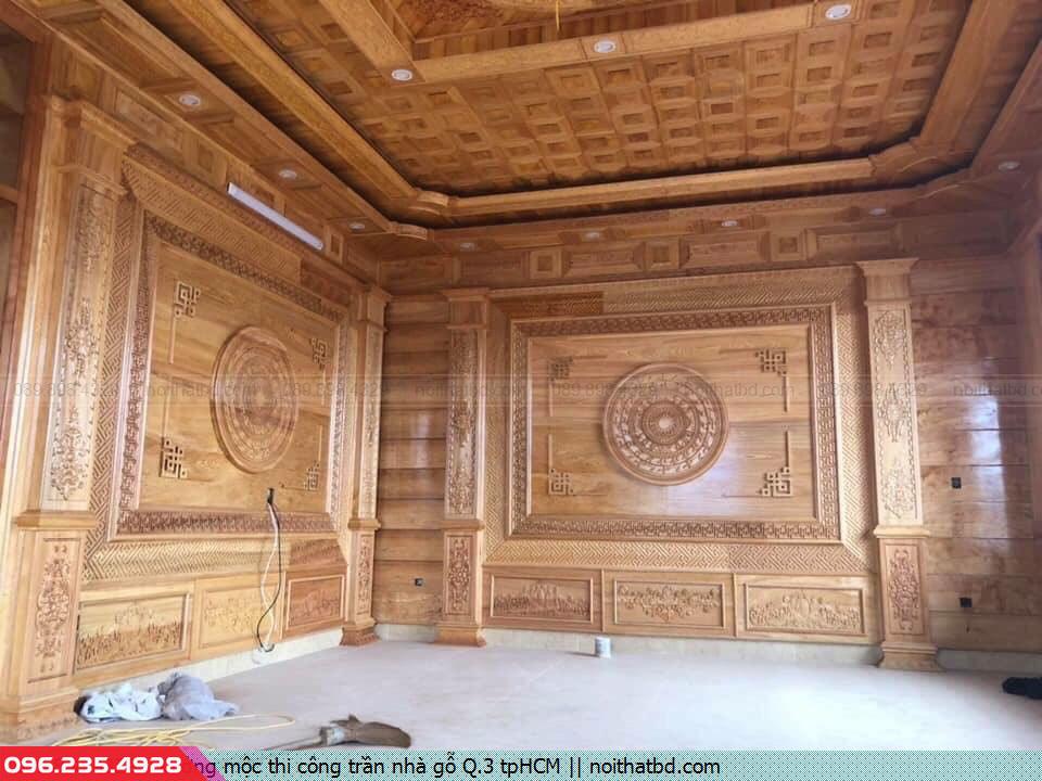 Xưởng mộc thi công trần nhà gỗ Q.3 tpHCM