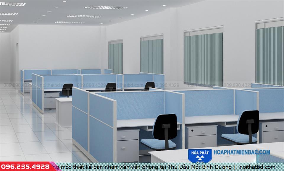 Xưởng mộc thiết kế bàn nhân viên văn phòng tại Thủ Dầu Một Bình Dương