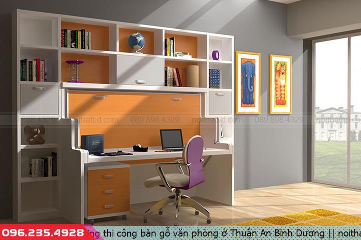 Xưởng thi công bàn gỗ văn phòng ở Thuận An Bình Dương