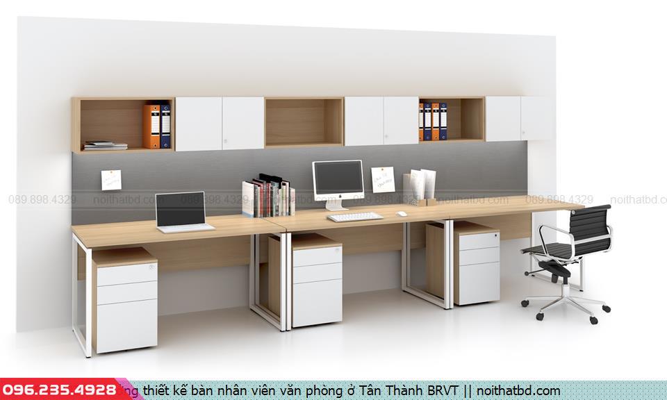 Xưởng thiết kế bàn nhân viên văn phòng ở Tân Thành BRVT