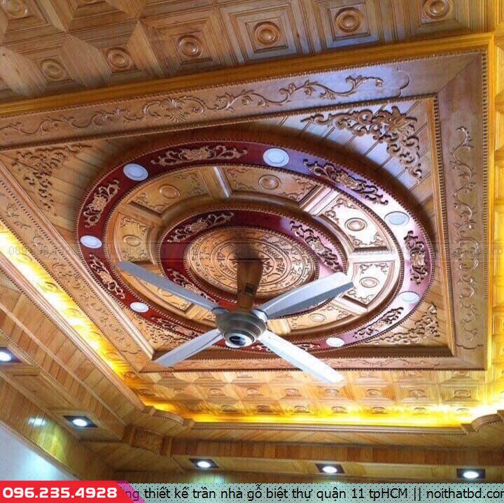 Xưởng thiết kế trần nhà gỗ biệt thự quận 11 tpHCM